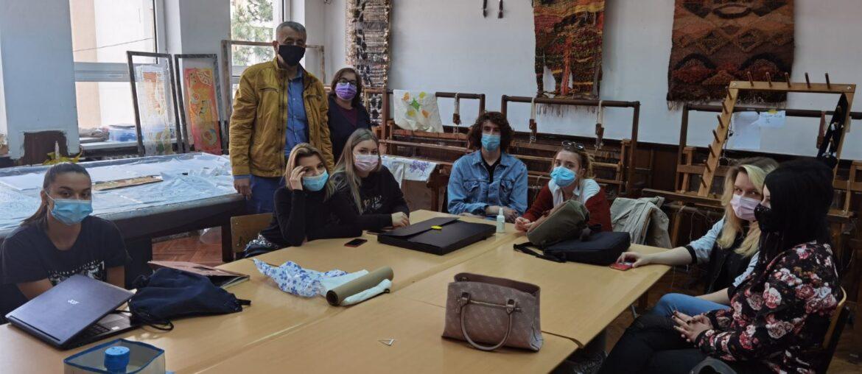 Obuka maturanata u Umetničkoj školi u Nišu